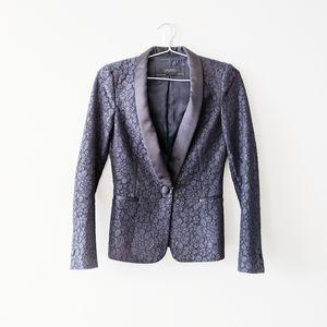 Zara lace tuxedo blazer